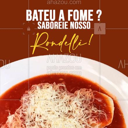 Se a fome bateu, pede nosso rondelli que é sucesso! Já estamos abertos! ? #ahazoutaste #pasta #restauranteitaliano #massas #comidaitaliana #italianfood #italy #cozinhaitaliana #rondelli #pedido #delivery #sabor #qualidade