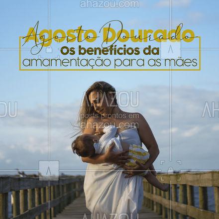 Não só para os bebês a amamentação é importante. Para as mães ela também é muito benéfica além de criar vínculos com o seu bebê ela protege de doenças como osteoporose e doenças cardiovasculares, diminui os sangramento no pós-parto, auxilia na perda de peso e reduz a incidência de cânceres como mama, ovário e endométrio. #amamentação #leitematerno #agostodourado #ahazou #maeefilho #saude #amamentar #dicas #beneficios
