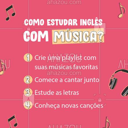 E você? Já usa esse método para aprender inglês? ?? #AulasdeIngles #AhazouEdu #DicasIngles #AhazouEdu