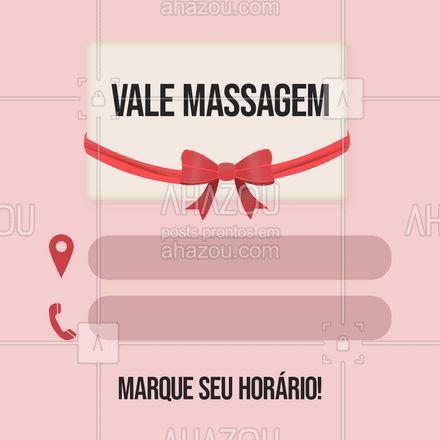 Presenteie quem você ama com uma massagem! #AhazouSaude #quickmassage #massoterapia #relax #massoterapeuta #massagem #AhazouSaude