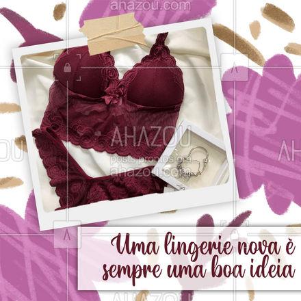 Nada melhor que uma lingerie pra se sentir bem com você mesma! Não perca tempo e compre a sua #lingerie #mulher #peçaintima #AhazouFashion #modafeminina