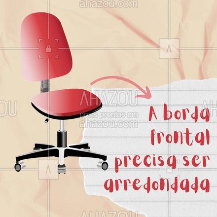 E aí, a sua cadeira de trabalho está pensando no seu corpo? ?  #ergonomia #fisioterpia #AhazouSaude  #qualidadedevida #physiotherapy #fisio #fisioterapeuta