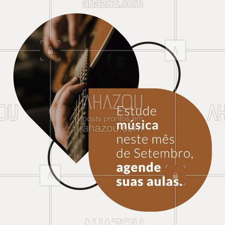 Setembro é o mês de aprender música, agende suas aulas agora mesmo. Não perca tempo! 🎸🎶 #AhazouEdu #aprendamúsica #professordemusica #aulaparticular #música #instrumentos #aulademusica