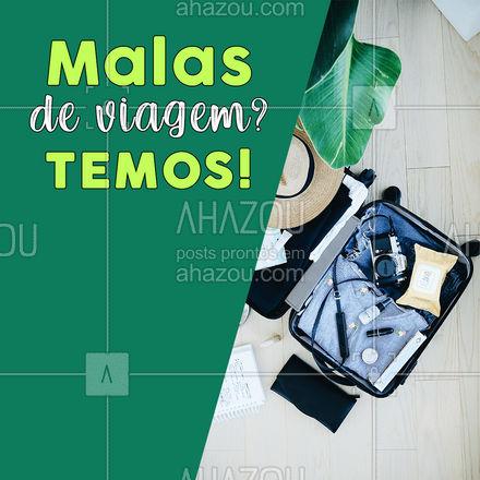 Está agendando aquela viagem mas ainda não sabe como vai organizar suas coisas para levar? ? Dê uma olhadinha nas nossas lindas malas de viagem! ? #mala #MaladeViagem #AhazouFashion  #acessorios #fashion