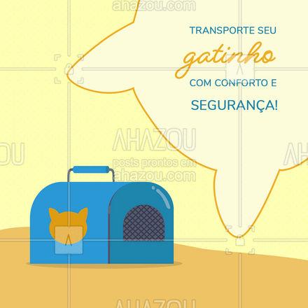 Temos as melhores bolsas para transportar seu gatinho! Com grande variedade de cores e tamanhos, venha conferir! #AhazouPet  #instapet #petshoponline #petshop