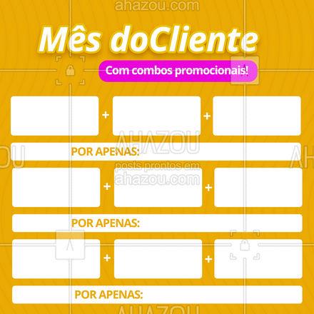 Não perca essas e outras ofertas disponíveis no mês do cliente! #ahazou #mesdocliente  #semanadocliente  #diadocliente #promoção #descontos #oferta