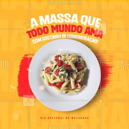 E aí, qual vai ser o prato especial desse dia do macarrão? 🤔🍝 #diadomacarrao #macarrao #ahazoutaste  #pasta  #restauranteitaliano  #massas