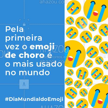 Pela primeira vez, a risadinha (?), perdeu para o choro (?). O que você acha disso? #diamundialdoemoji #emoji #AhazouMktDigital #socialmedia #redessociais #marketing #marketingdigital #AhazouMktDigital
