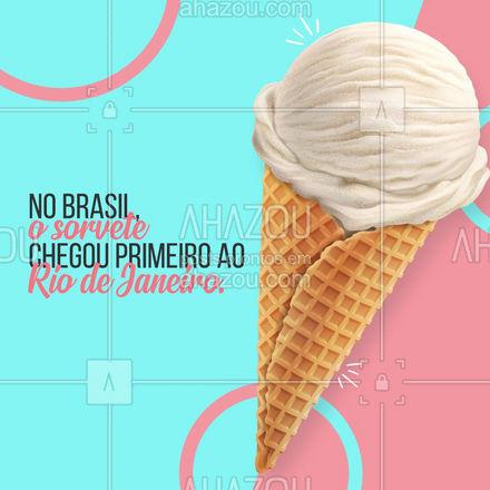 Quem aqui iria até o Rio só para tomar um sorvete? haha. Feliz dia do sorvete 😋 #ahazoutaste #sorvete #diadosorvete #sorveteria #primeirosorvete
