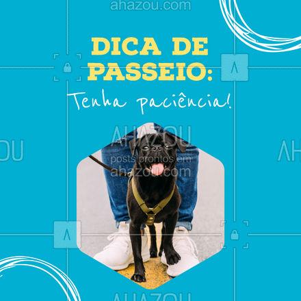 Seu pet vai querer parar diversas vezes para marcar território! Isso é natural, tenha paciência e deixe seu amiguinho curtir o passeio. #AhazouPet #dica #passeio   #dogwalkersofinstagram  #dogwalk  #dogwalker  #dogdaycare