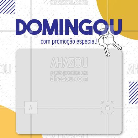 Quer fechar sua semana com chave de ouro? Deixa com a gente! ?? #AhazouServiços  #chaveiro #promoção #serviços #chave #domingou