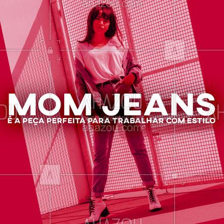 O ambiente de trabalho exige um visual profissional, mas isso não significa falta de estilo. O Mom jeans é a peça perfeita para ter estilo e ainda assim manter o profissionalismo.  #AhazouFashion  #fashion #moda #momjeans  #modafeminina #look