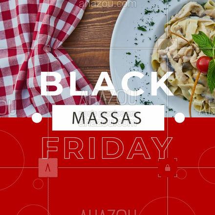Chamando todos os amantes de massas! ? Desconto de até xx% em qualquer prato de massa, apenas nessa Black Friday! ? Aproveite!! ? #massas #pasta #ahazoutaste #comidaitaliana #cozinhaitaliana