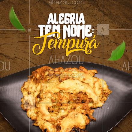 Tem coisa melhor do que comida pra fazer alguém feliz? Acho que não! ? Para ter uma dose extra de felicidade, peça nosso tempurá! ?: (XX) (XXXX-XXX)  #ahazoutaste  #japa #japanesefood #sushilovers #comidajaponesa #tempura