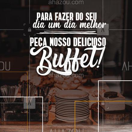 Um buffet com muitas variedades pode fazer seu dia muito melhor! Solicite nosso serviço de buffet! #ahazoutaste #buffetinfantil  #catering  #eventos  #foodie  #buffet  #casamento