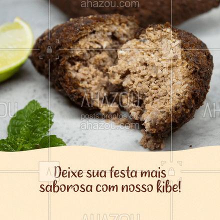 Festa boa é festa que tem kibe, hein! Aproveite essa delícia! #ahazoutaste #docinhos  #foodlovers  #kibe  #kitfesta  #salgados  #convite #cliente #sabor #salgadinho #salgado