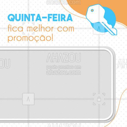Essa promoção é pra você nunca mais ficar trancado pra fora de casa! ??? #AhazouServiços  #promoção #chaveiro #serviços #quintafeira