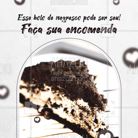 Hmmm... Deu vontade só de olhar, né? Peça o seu! (xx) xxxxx-xxxx #ahazoutaste #confeitaria  #bolo  #doces  #confeitariaartesanal  #bolosdecorados #negresco #convite #pedido #encomenda