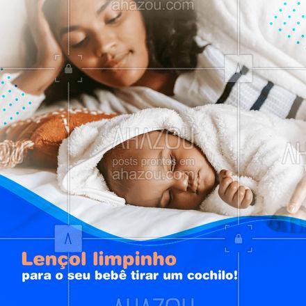 Dormir é muito bom, e dormir em um lençol limpinho é melhor ainda. Isso vale pra gente, e também vale para os nosso babes. ? #AhazouServiços #bebê #lavanderia #baby
