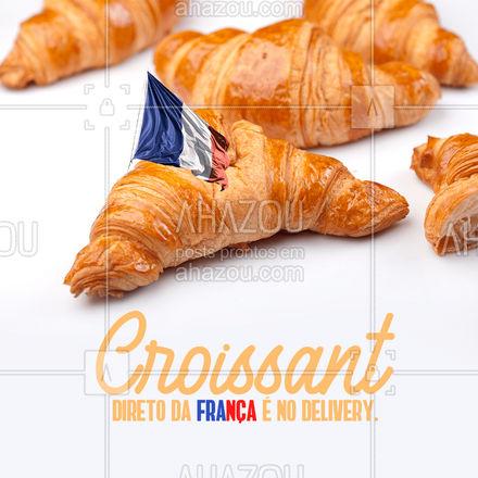 O croissant é uma comida típica francesa,  mas você não precisa viajar até lá para provar essa delícia. Basta pedir no delivery, que vai até você. #ahazoutaste #croissant #delivery #pedido