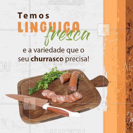 Venha conhecer nossa variedade de linguiças frescas e deixe o seu churrasco mais completo! ?#Churrasco #Linguiça #ahazoutaste #LinguiçaFresca #açougue #ahazoutaste