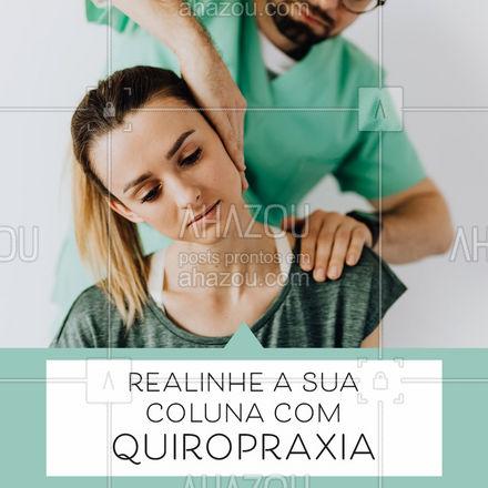 Tem dores na coluna que só um alongamento não resolve? Inicie as sessões de quiropraxia e veja a diferença na sua vida! ? #AhazouSaude #massoterapia #massagem #relax #massoterapeuta #quiropraxia #promocao #AhazouSaude