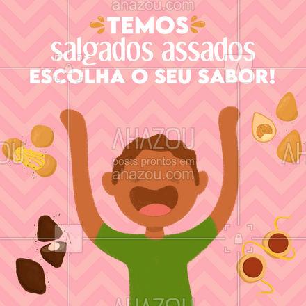 Salgados assados e deliciosos você encontra aqui! o nosso cardápio está te esperando 😊 #ahazoutaste #assados #salgados #recheio #sabor #convite