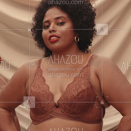 O poder do seu nude perfeito ✨ . Na imagem, Carol Santos (@carolsantosprodutora) veste o sutiã Push Up Nude Renda na cor Mocca (ref.503116) . #liebelingerie #lingerie #liebeparatodas #consciencianegra #collab #ahazouliebe #ahazourevenda