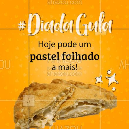 Pastel folhado e dia da gula é a combinação perfeita! Venha comprovar isso! ? #ahazoutaste #pastelfolhado  #padaria #bakery #panificadora