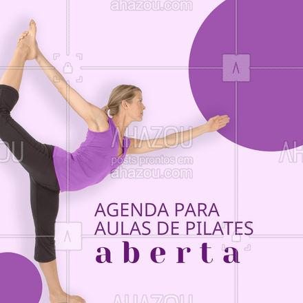 Estamos aqui para te ajudar! Agende sua aula! #Agenda #AhazouSaude #editaveisahz #Pilates