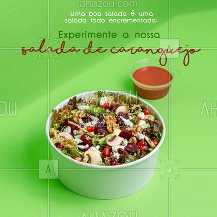 Fresquinha, saborosa e deliciosa!🦀🥗  #ahazoutaste #foodlovers  #peixes  #frutosdomar #caranguejo #pratos #praia #seafood #salada