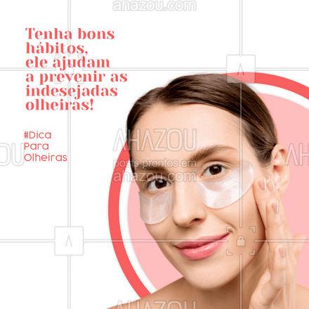 Adotar alguns hábitos saudáveis pode ajudar na prevenção da olheiras como, por exemplo, hidratar o corpo todos os dias incluindo a região dos olhos, beber bastante água ao longo do dia, uma boa alimentação rica em alimentos que contenham vitamina C. E por fim, evitar o alto consumo de sal e bebidas alcóolicas, pois ajudam a provocar inchaço. Uma dica bônus é sempre usar protetor solar. 👀 #AhazouBeauty #makeup #maquiagem #maquiadora #makeoft #dicas #dicascontraolheiras #olheirasnuncamais