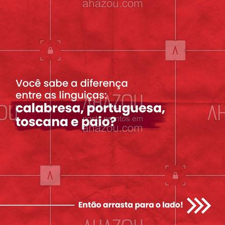 E ai, aprendeu a diferença entre as linguiças ?? Aproveita para salvar o post ? e não ficar na dúvida quando for comprá-las! #linguica #ahazoutaste #carrosselahz #paio #LinguiçaToscana #LinguiçaPortuguesa #LinguiçaCalabresa #ahazoutaste