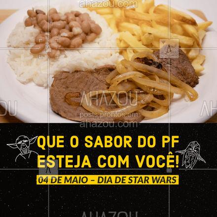 Depois de uma batalha todo Jedi merece um PF de respeito! Entre em contato e faça o seu pedido! #restaurante #alacarte #foodlovers #ahazoutaste #selfservice #StarWars #diadestarwars