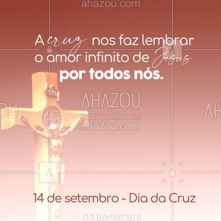 Ele foi para a cruz para livrar-nos de todos os pecados. Amor incondicional. #diadacruz #AhazouFé
