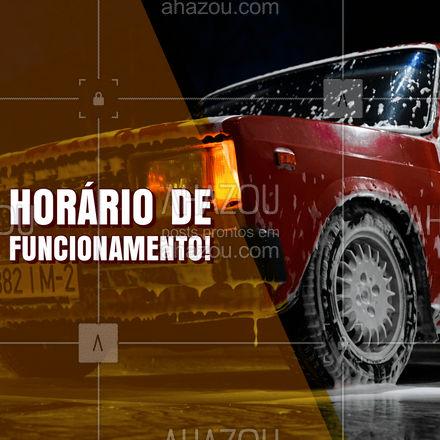 Quer dar aquele trato no seu carro? Então não perca tempo agende já o seu horário! #esteticaautomotiva #automotivos #AhazouAuto #servicoautomotivo #lavajato #horariodefuncionamento #AhazouAuto