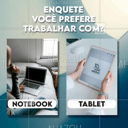 E aí me conta você é do time que prefere o notebook o do time tablet? Deixe sua resposta nos comentários! #computador #tecnologia #assistentetecnico #AhazouTec #computadores #eletrônicos #celulares #tablet #AssistenciaTecnica #enquete