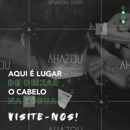 Seu cabelo tem que estar dahora e na régua! Venha nos visitar! 😎  #AhazouBeauty #barberLife  #barbeirosbrasil  #barbeiro  #barberShop  #barbearia  #barba