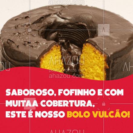 Já provou nosso bolo vulcão? Ele é feito exclusivamente para você que ama uma cobertura. #confeitaria #ahazoutaste #bolovulcão #doces