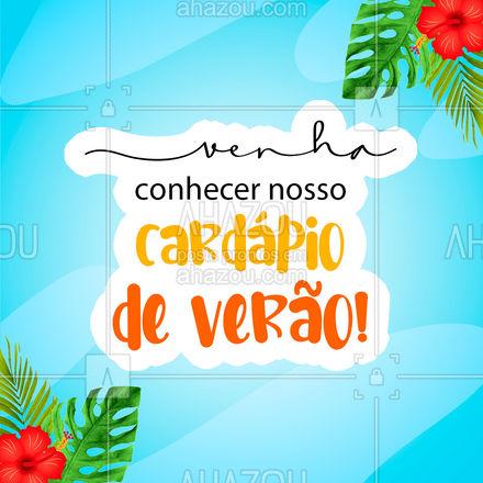 São diversas opções para deixar seu verão mais fresquinho! ? #cardapiodeverao #verao #ahazoutaste  #gastronomia #foodlover #culinaria