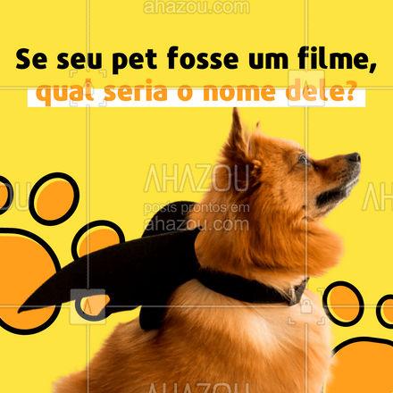 E o mais importante, esse filme seria de comédia? ? Terror? ? Aventura? ? Conta pra gente! ? #cats #dogs #petlovers #ahazoupet #petsofinstagram #ilovepets