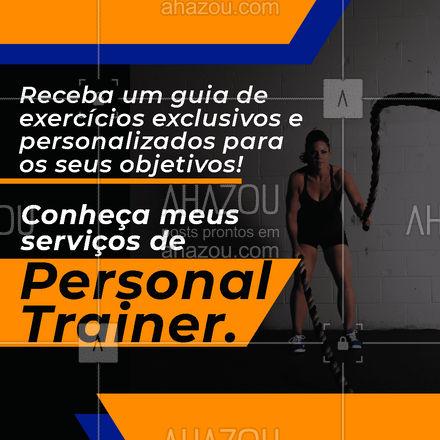 Sem treinos genéricos: trabalhe o necessário para alcançar sua saúde e corpo dos sonhos. #AhazouSaude #personal  #personaltrainer  #boratreinar  #nopainnogain