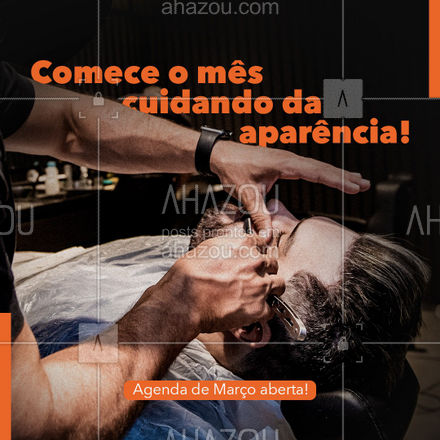 Comece sua semana cuidando da sua aparência, agende seu horário. Nossa agenda de Março está aberta. #AhazouBeauty  #barberLife #barbeirosbrasil #barbeiro #barberShop #barbearia #barba #cuidadoscomabarba #barber