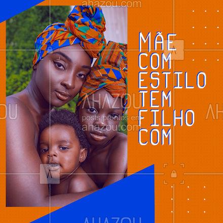 Quando a mãe é cheia de estilo, com certeza o filho também vai ser. 🥰 #AhazouFashion #modainfantil  #talmaetalfilha