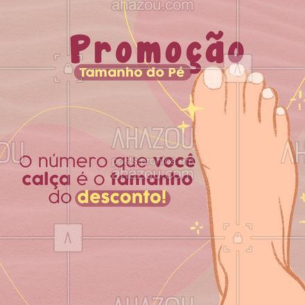 Qual seu desconto? Venha aproveitar essa promoção! Estamos no endereço: ?(preencher) #AhazouFashion  #tendencia #estilo #fashion #calçados #promoção