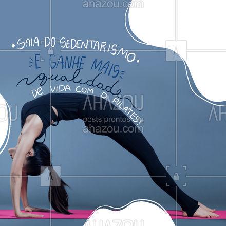 Venha movimentar o seu corpo de forma saudável e ganhe mais qualidade de vida e bem-estar! Entre em contato 📞 (inserir número) e faça sua matrícula! #pilatesbody #pilates #fitness #AhazouSaude #workout #pilateslovers #auladepilates