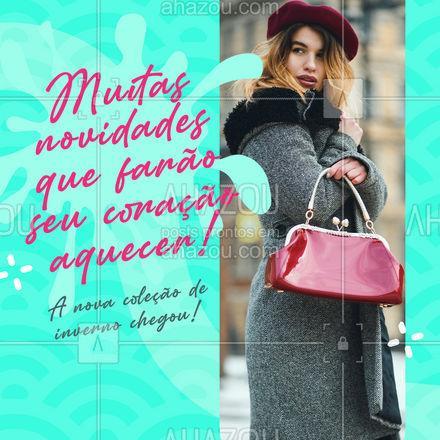 Você linda, fashion e cheia de poder nos seus looks de inverno! Confira nossa nova coleção da estação! ?? #AhazouFashion #lookdodia  #fashionista  #fashion  #modafeminina #inverno