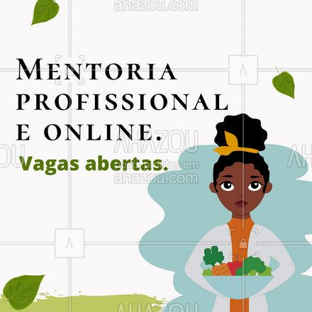 Estamos com vagas abertas para esse programa que tem por objetivo ajudar profissionais recém-formados ou que estão em busca de atualizações e melhorias. Entre em contato e garanta a sua vaga!?? #mentoria #mentoriaonline #mentoriaprofissional #nutrição #AhazouSaude #saude #bemestar #AhazouSaude