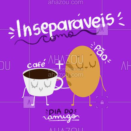 Hoje é comemorado o Dia do Amigo! Marca aqui aquele amigo do peito que você gostaria de tomar um cafezinho junto hoje. ?#diadoamigo  #ahazoutaste  #padaria #cafe