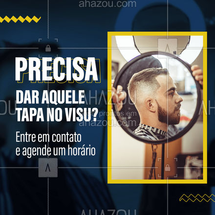 Quer dar aquela melhorada no visual e ficar ainda mais estiloso? Entre em contato e agende o seu horário! #barberLife #barbeirosbrasil #barbeiro #barberShop#AhazouBeauty #barbearia #barba #cuidadoscomabarba #barber